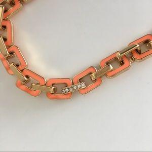 Ann Taylor Jewelry - Ann Taylor Orange Enamel Link Bracelet